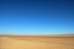 Sahara desert landscape. Photo taken in Sahara desert in Tunisia Stock Image