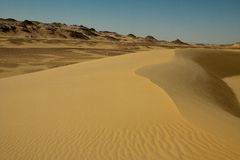 Sahara desert landscape Royalty Free Stock Images
