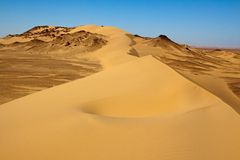 Sahara desert landscape,Egypt Stock Photos