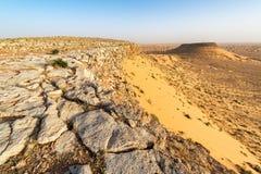 Sahara Desert Landscape en Tunisie image libre de droits