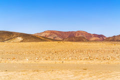 Sahara desert landscape in Sudan near Wadi Halfa. Royalty Free Stock Images