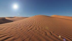 Sahara Desert landscape, wonderful dunes early in the morning stock video