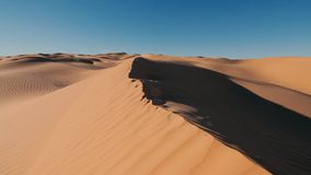 Sahara Desert landscape, wonderful dunes early in the morning stock footage