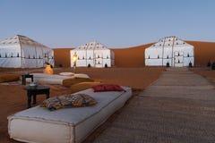 Luxury Camping in Sahara. Sahara Desert Luxury Camping Camp stock photos