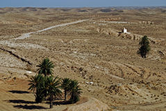 Sahara Desert, near Matmata, Southern Tunisia Royalty Free Stock Images