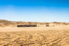 Sahara desert near Ong Jemel in Tozeur,Tunisia. Stock Photos