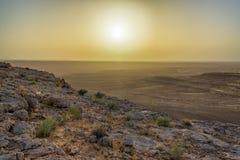Sahara Desert près de coucher du soleil image stock