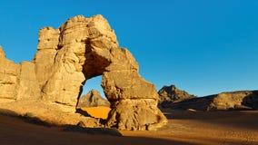 Sahara Desert Rock Arch. Huge Natural Rock Arch in the Sahara Desert Royalty Free Stock Image