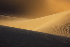 Sahara desert sand dunes. Royalty Free Stock Photography