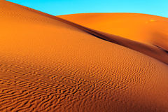 Sahara desert sand. The sand of the Sahara desert in Morocco, Merzouga Stock Image