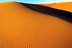 Sahara desert sand. The sand of the Sahara desert in Morocco, Merzouga Royalty Free Stock Images
