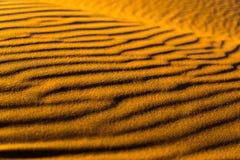 Sahara desert sand. The sand of the Sahara desert in Morocco, Merzouga Stock Photography