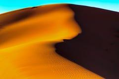 Sahara desert sand. The sand of the Sahara desert in Morocco, Merzouga Royalty Free Stock Photos
