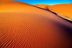 Sahara desert sand. The sand of the Sahara desert in Morocco, Merzouga Stock Photo