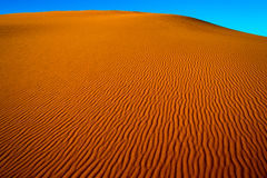 Sahara desert sand. The sand of the Sahara desert in Morocco, Merzouga Royalty Free Stock Photo