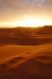 Sahara desert at sunrise Royalty Free Stock Photo