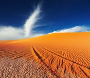 Sahara Desert, Tadrart, Algeria Royalty Free Stock Photos