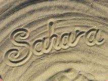 Sahara desert title Royalty Free Stock Image