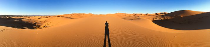Sahara dunes in Merzouga, Africa - The grand Dune of Merzouga royalty free stock images