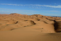 Sahara - erg Chebbi Obraz Stock