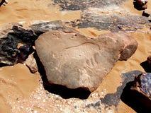Sahara- förhistorisk gravyr royaltyfria foton