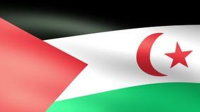 Sahara Flag Waving occidental stock de ilustración