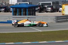 Sahara Force India F1 lag - Jules Bianchi - 2013 Arkivbilder