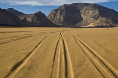 Sahara highway Royalty Free Stock Photo
