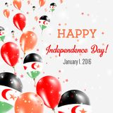 Sahara Independence Day Greeting Card occidental libre illustration