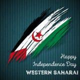 Sahara Independence Day Patriotic Design occidentale Immagini Stock Libere da Diritti