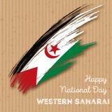 Sahara Independence Day Patriotic Design occidentale Fotografia Stock