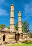 Sahara Ki Masjid przy Champaner-Pavagadh Archeologicznym parkiem UNESCO dziedzictwa miejsce w Gujarat, India obrazy stock