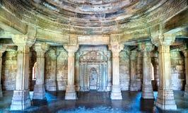 Sahara Ki Masjid przy Champaner-Pavagadh Archeologicznym parkiem UNESCO dziedzictwa miejsce w Gujarat, India zdjęcia royalty free