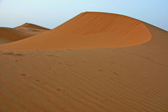 Sahara landscape. Sand dunes of Erg Chebbi in the south of Morocco stock images