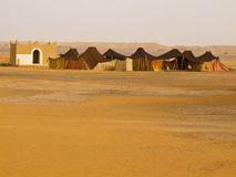 Sahara - migratory habitation Royalty Free Stock Photography