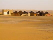 Sahara - migratory habitation. Migratory habitation of nomad people in Moroccan desert. Keywords: africa desert habitation migratory morocco nomad rissani sahara royalty free stock photography