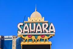 Sahara Neon Sign on the side Stock Image