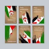 Sahara Patriotic Cards occidentale per la festa nazionale royalty illustrazione gratis