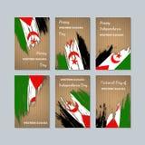 Sahara Patriotic Cards ocidental para o dia nacional ilustração royalty free