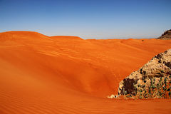 Sahara red sand desert Stock Photo