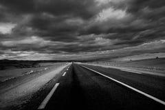Sahara road of Timimoun royalty free stock image