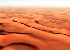 Saharas desert and dunes Stock Photography