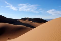 Sahara-Sanddünen Stockfotografie