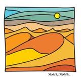 Sahara Tarvel-affiche royalty-vrije illustratie
