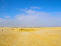 Sahara Tunezja, Styczeń, - 03, 2008: Zaniechani sety dla strzelaniny gwiazd filmowa wojny Zdjęcie Stock
