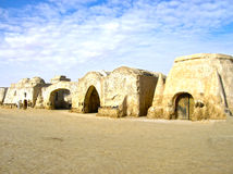 Sahara, Tunisia - January 03, 2008: Abandoned sets for the shooting of the movie Star Wars Royalty Free Stock Photography