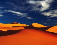 Sahara-Wüste, Algerien Lizenzfreies Stockfoto