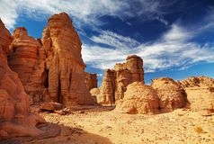 Sahara-Wüste, Tassili N'Ajjer, Algerien Stockfotografie