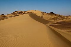 Sahara-Wüstenlandschaft, Ägypten Stockbilder