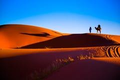 Sahara-Wüstensand Stockbild